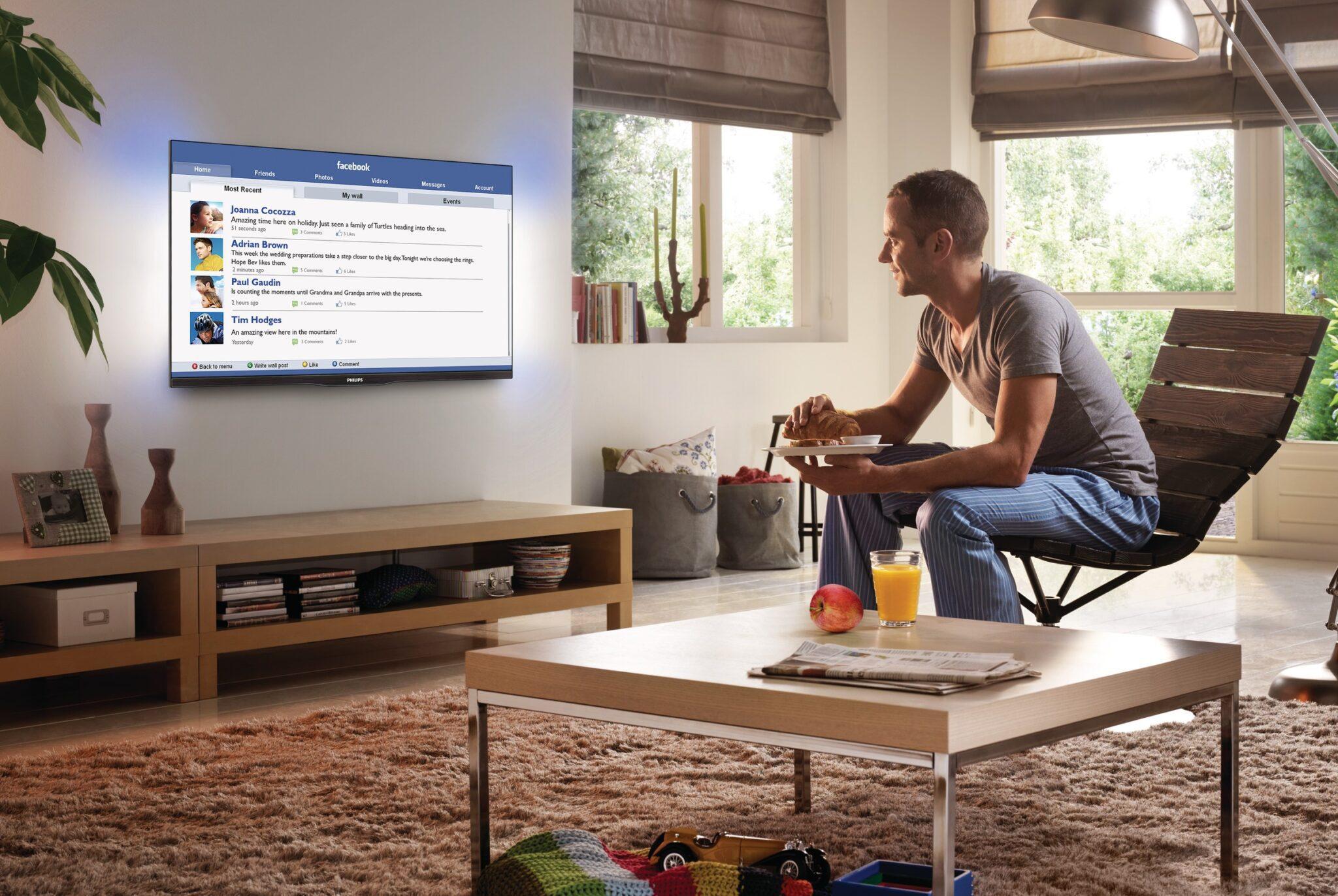 доступ до соціальних мереж за допомогою Смарт ТВ